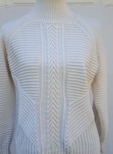 🎉Banana Republic|Cable Knit|White|Size S